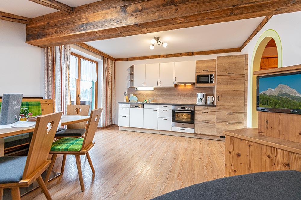 Ferienwohnung Rosengarten - Wohnküche